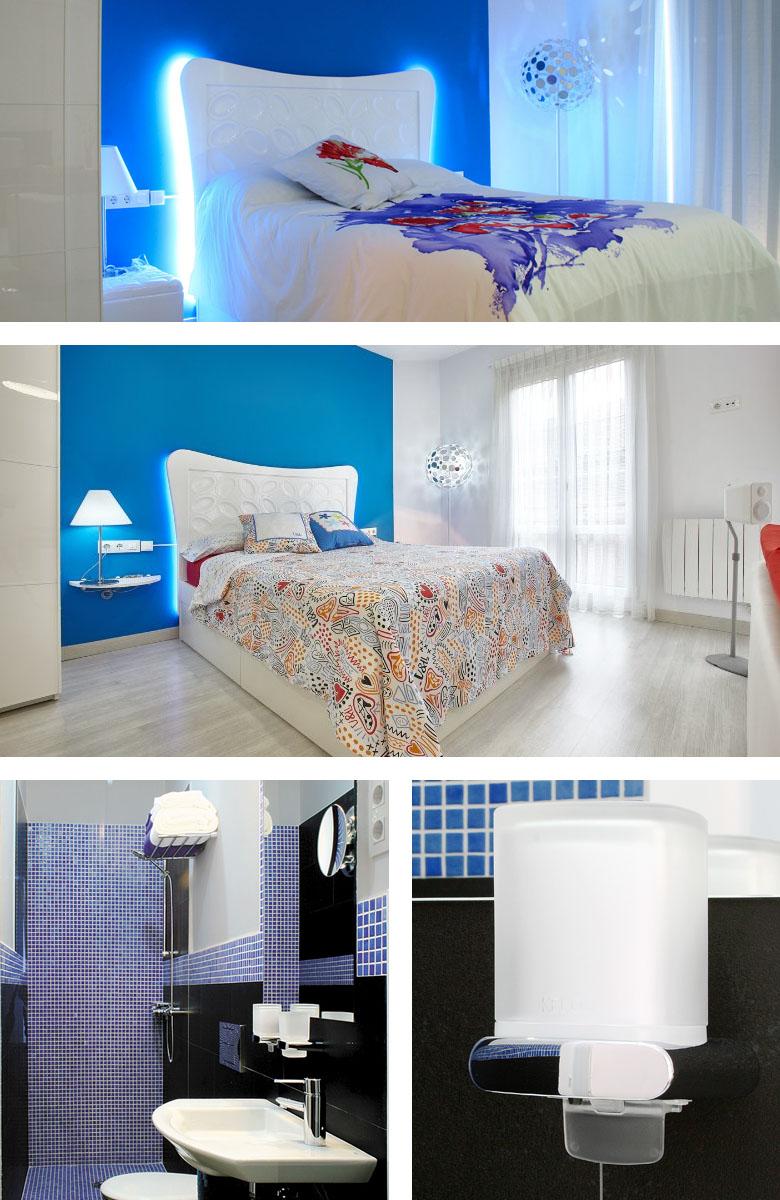 El Encanto de Avilés apartamento - dormitorio y baño